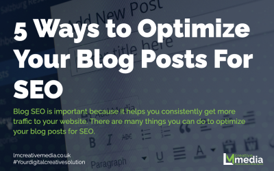 5 Ways to Optimise Your Blog Posts For SEO